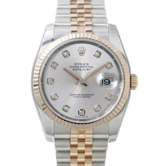Rolex Datejust Silver/Diamond Jubilee 116231