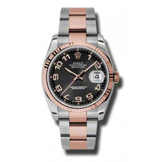 Rolex Datejust Black Arab Concentric Oyster 116231