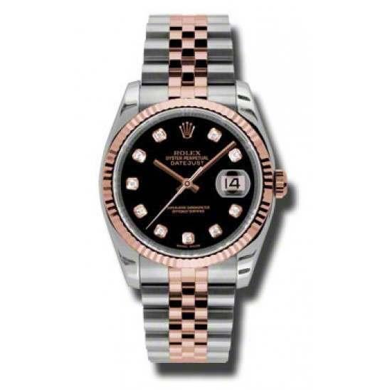 Rolex Datejust Black/Diamond Jubilee 116231