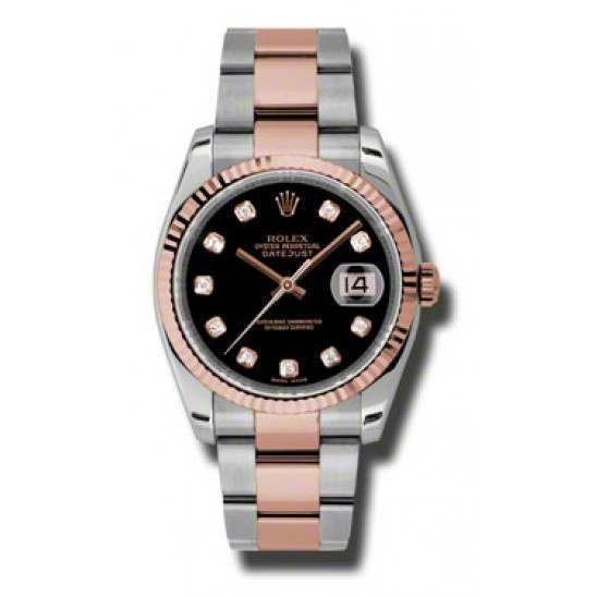 Rolex Datejust Black/Diamond Oyster 116231
