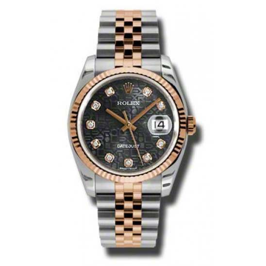 Rolex Datejust Black Jub/Diamond Jubilee 116231