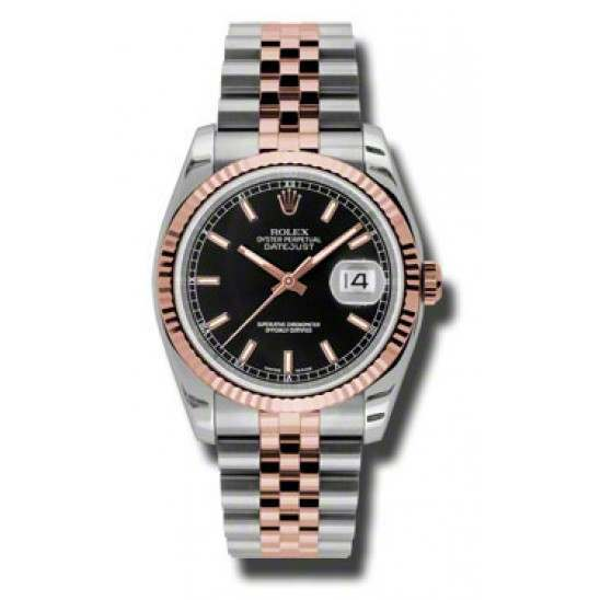 Rolex Datejust Black/index Jubilee 116231