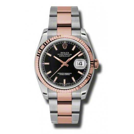 Rolex Datejust Black/index Oyster 116231