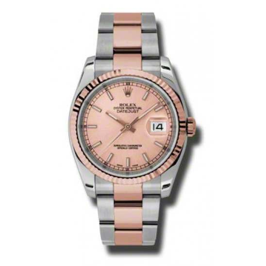 Rolex Datejust Pink/index Oyster 116231