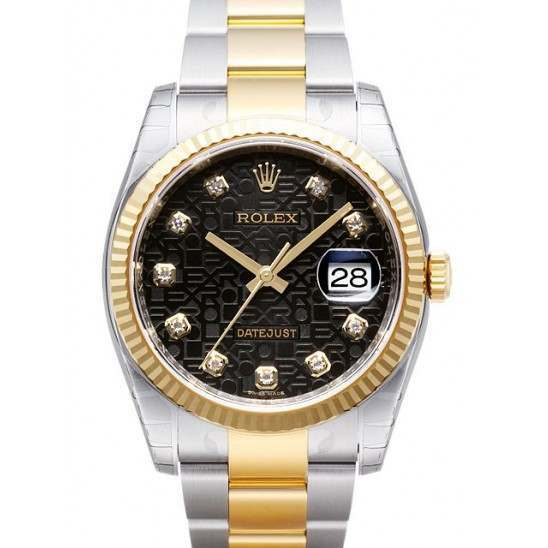 Rolex Datejust Black Jub/Diamond Oyster 116233