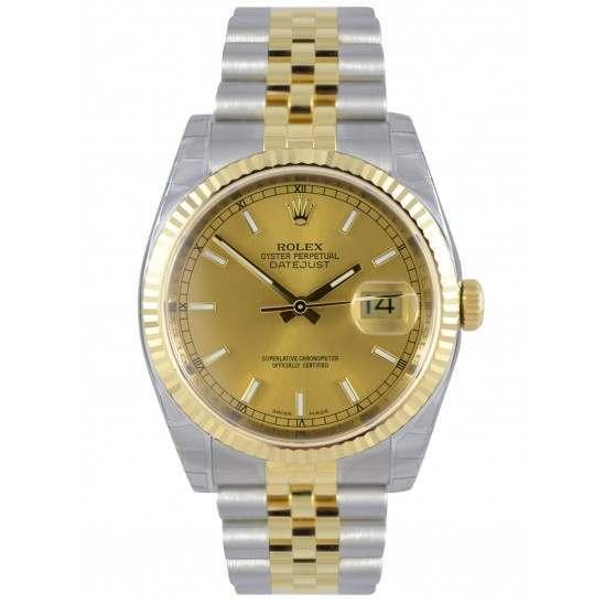 Rolex Datejust Champagne/index Jubilee 116233