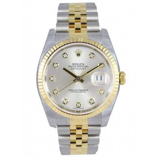 Rolex Datejust Silver/Diamond Jubilee 116233