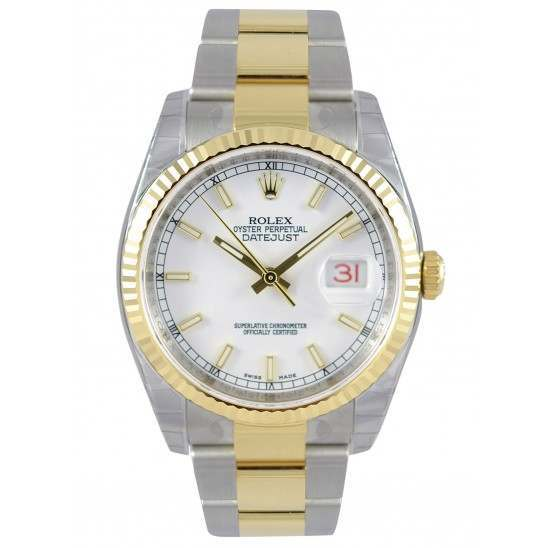 Rolex Datejust White/index Oyster 116233