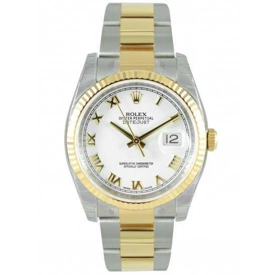 Rolex Datejust White Roman Oyster 116233