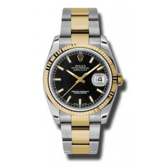 Rolex Datejust Black/index Oyster 116233