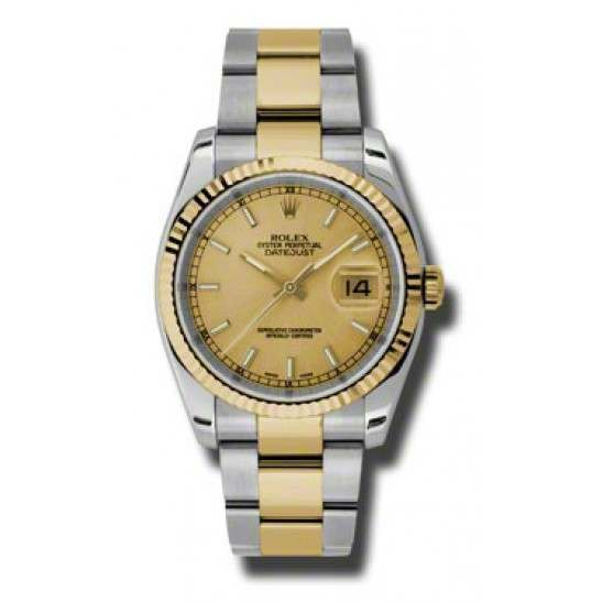 Rolex Datejust Champagne/index Oyster 116233