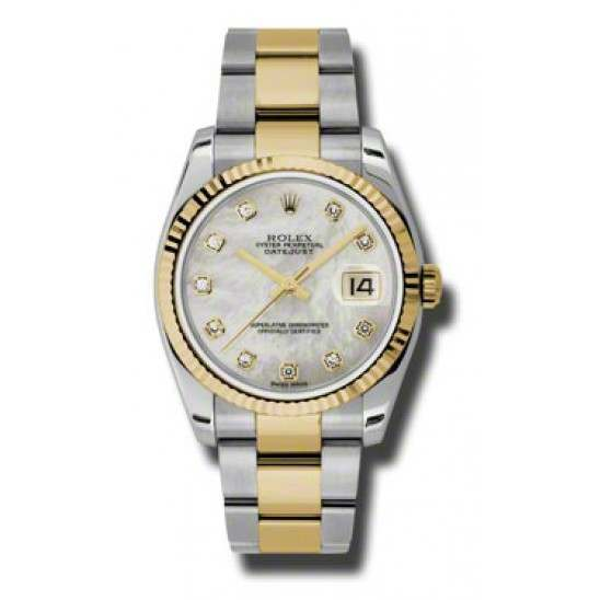 Rolex Datejust White mop/Diamond Oyster 116233