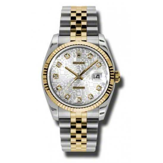 Rolex Datejust Silver Jub/Diamond Jubilee 116233