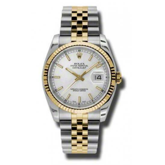 Rolex Datejust Silver/index Jubilee 116233