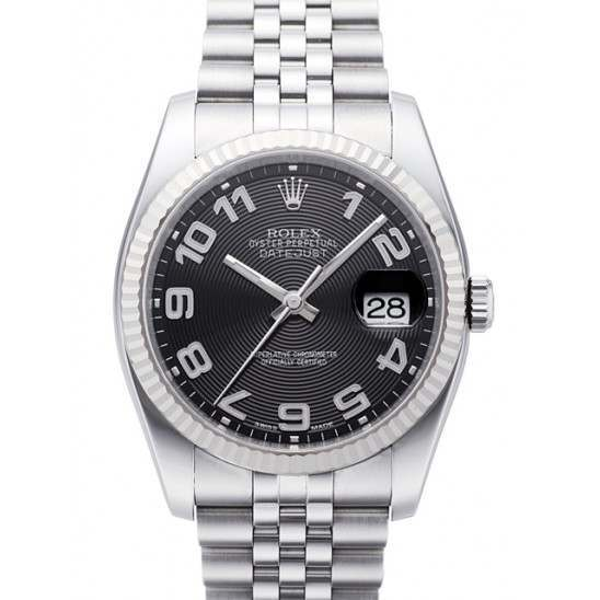 Rolex Datejust Black Arab Concentric Jubilee 116234