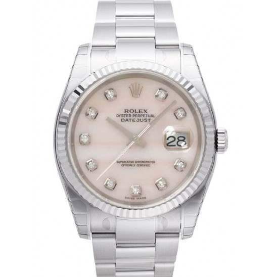 Rolex Datejust Pink mop/Diamond Oyster 116234