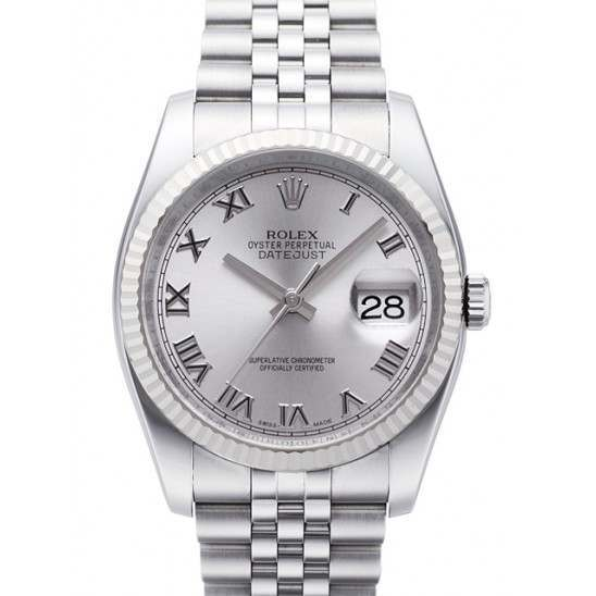 Rolex Datejust Rhodium Roman Jubilee 116234