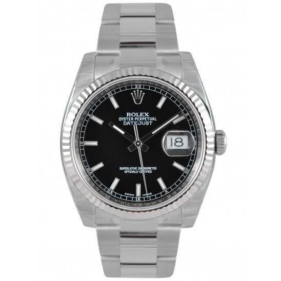 Rolex Datejust Black/index Oyster 116234