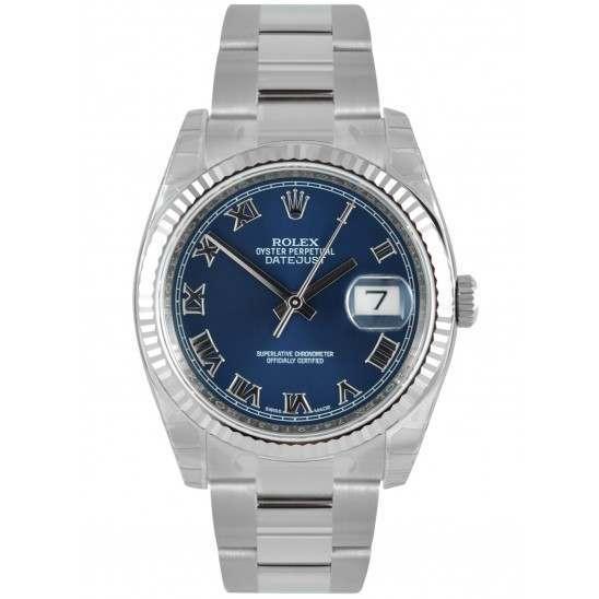 Rolex Datejust Blue Roman Oyster 116234