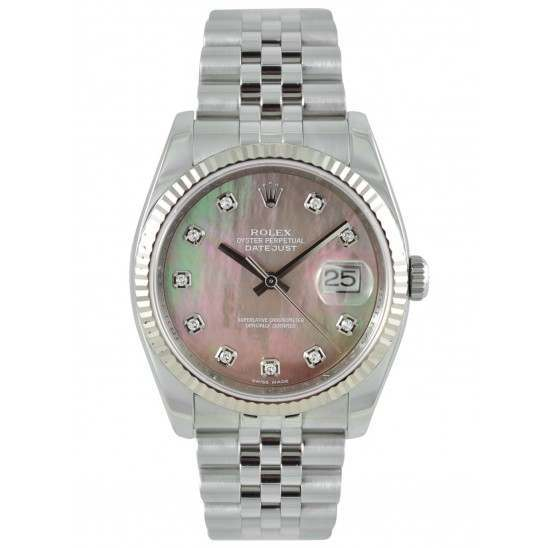 Rolex Datejust Black Mother-of-Pearl/ Diamond Dial Jubilee 116234