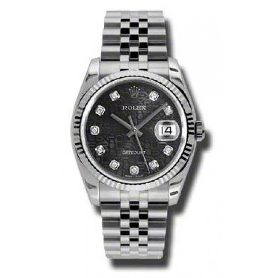 Rolex Datejust Black Jub/Diamond Jubilee 116234