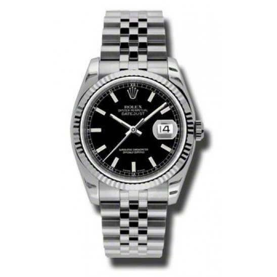 Rolex Datejust Black/index Jubilee 116234