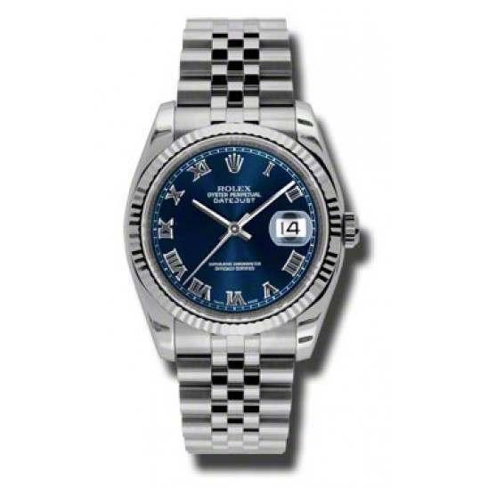Rolex Datejust Blue Roman Jubilee 116234