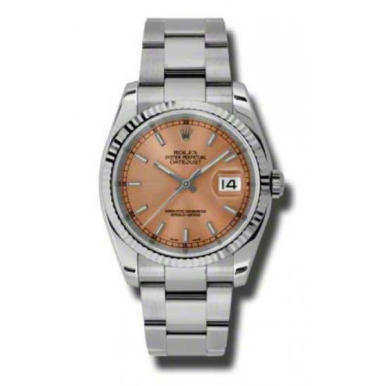 Rolex Datejust Pink/index Oyster 116234
