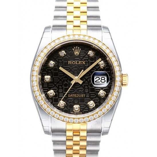 Rolex Datejust Black Jub/Diamond Jubilee 116243