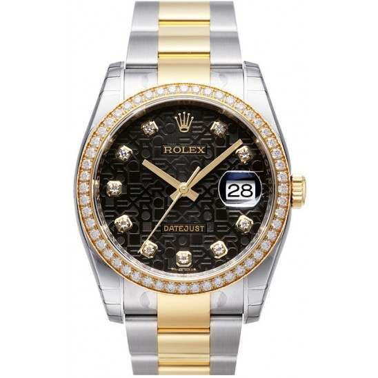 Rolex Datejust Black Jub/Diamond Oyster 116243