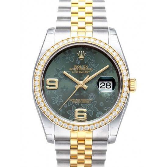 Rolex Datejust Green Arab Jubilee 116243