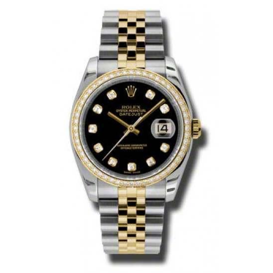 Rolex Datejust Black/Diamond Jubilee 116243