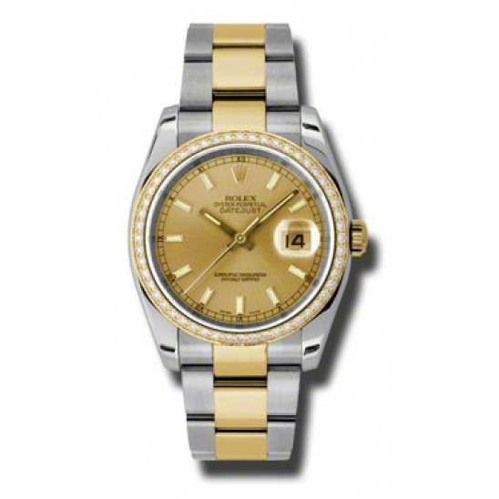 Rolex Datejust Champagne/index Oyster 116243