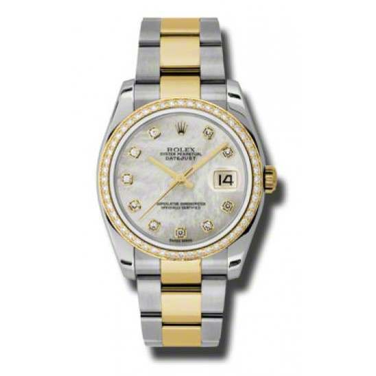 Rolex Datejust White mop/Diamond Oyster 116243