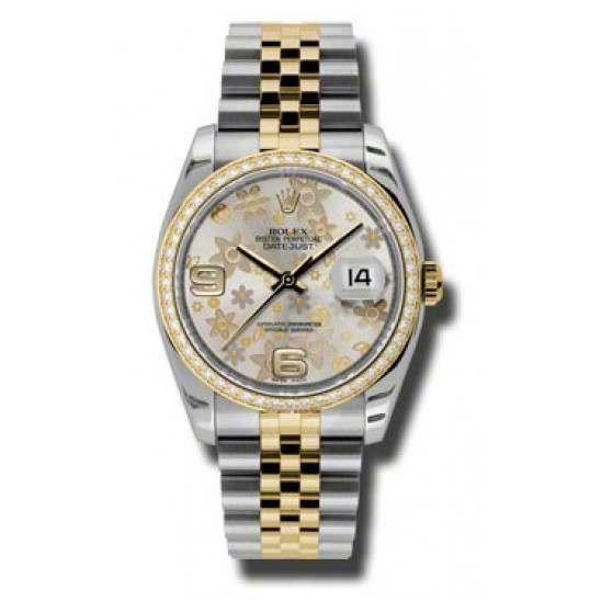 Rolex Datejust Silver Arab Jubilee 116243
