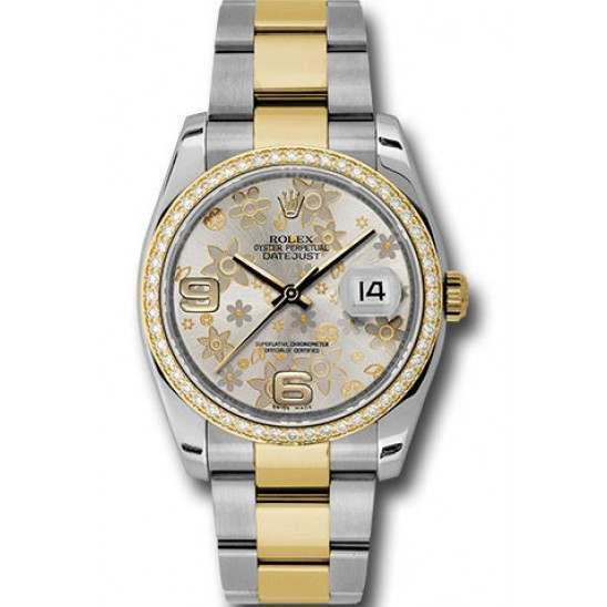 Rolex Datejust Silver Arab Oyster 116243