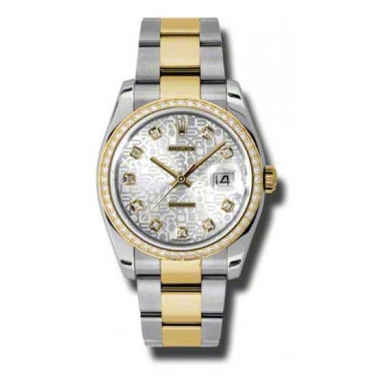 Rolex Datejust Silver Jub/Diamond Oyster 116243