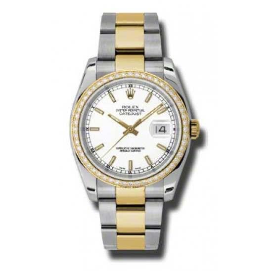 Rolex Datejust White/index Oyster 116243