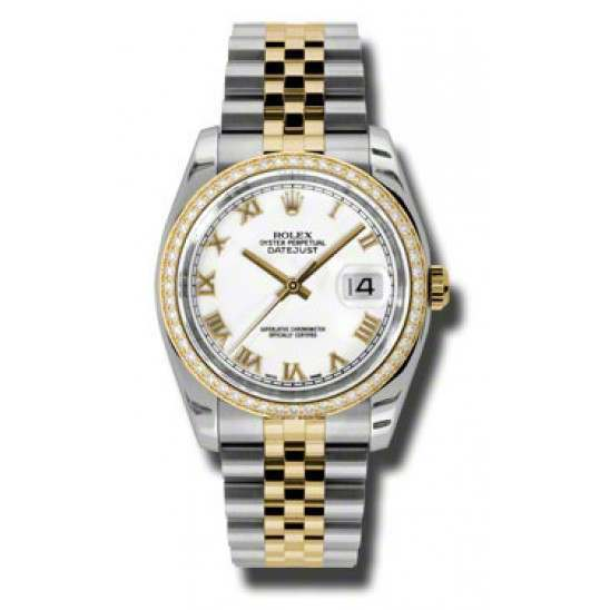 Rolex Datejust White Roman Jubilee 116243