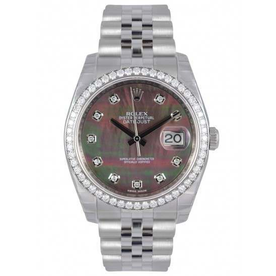 Rolex Datejust Black mop/Diamond Jubilee 116244