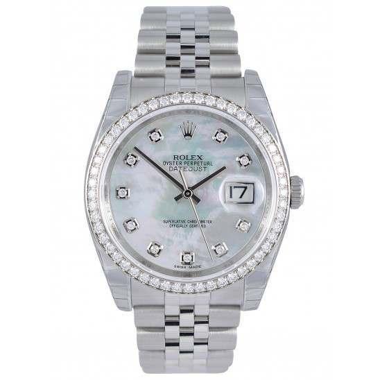Rolex Datejust White mop/Diamond Jubilee 116244