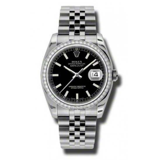 Rolex Datejust Black/index Jubilee 116244