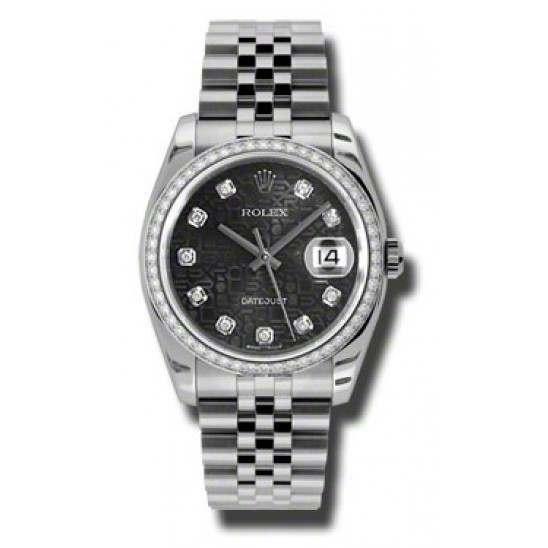 Rolex Datejust Black Jub/Diamond Jubilee 116244