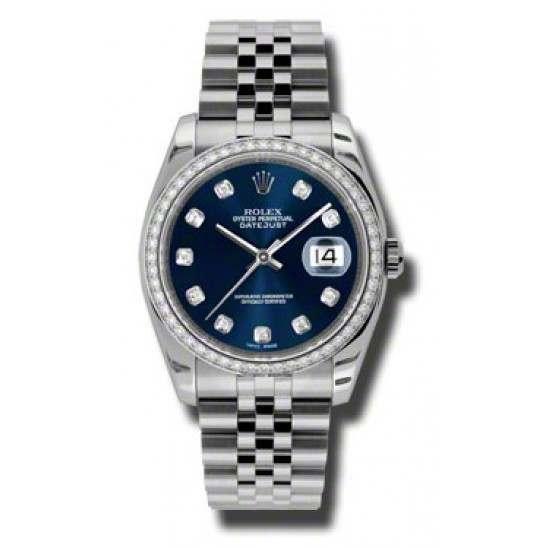 Rolex Datejust Blue/Diamond Jubilee 116244