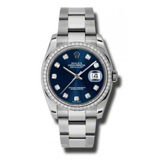 Rolex Datejust Blue/Diamond Oyster 116244