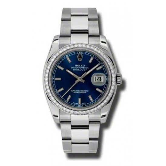 Rolex Datejust Blue/index Oyster 116244