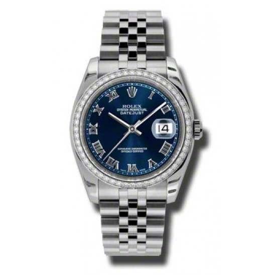 Rolex Datejust Blue Roman Jubilee 116244