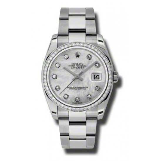 Rolex Datejust White mop/Diamond Oyster 116244