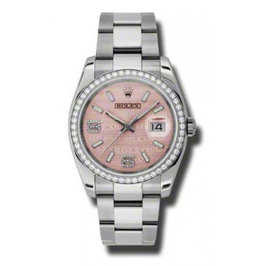 Rolex Datejust Pink/Diamond Oyster 116244