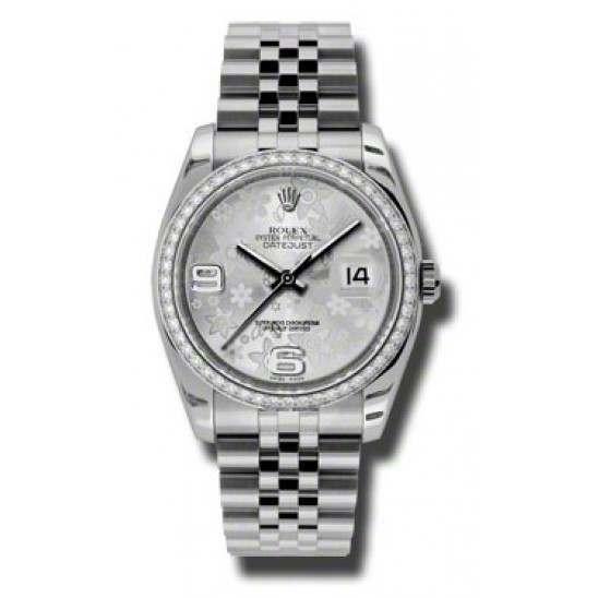 Rolex Datejust Silver Arab Jubilee 116244